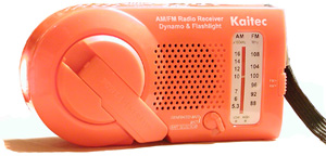 another orange emergency radio.
